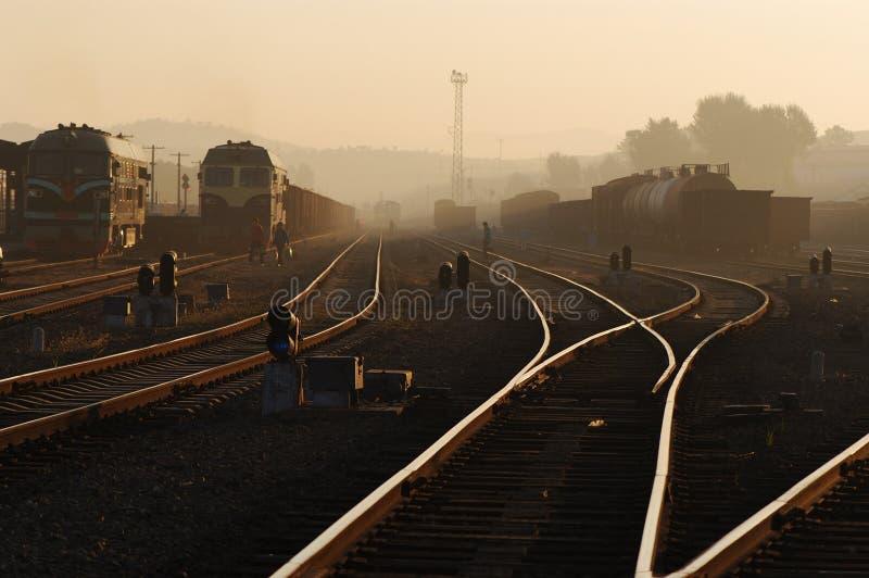 Railway Station in Dawn royalty free stock photo