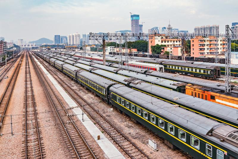 Railway station at day time. Shenzhen royalty free stock images
