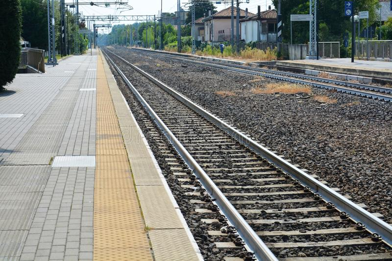 Download Railway station stock image. Image of nowhere, empty - 77122885
