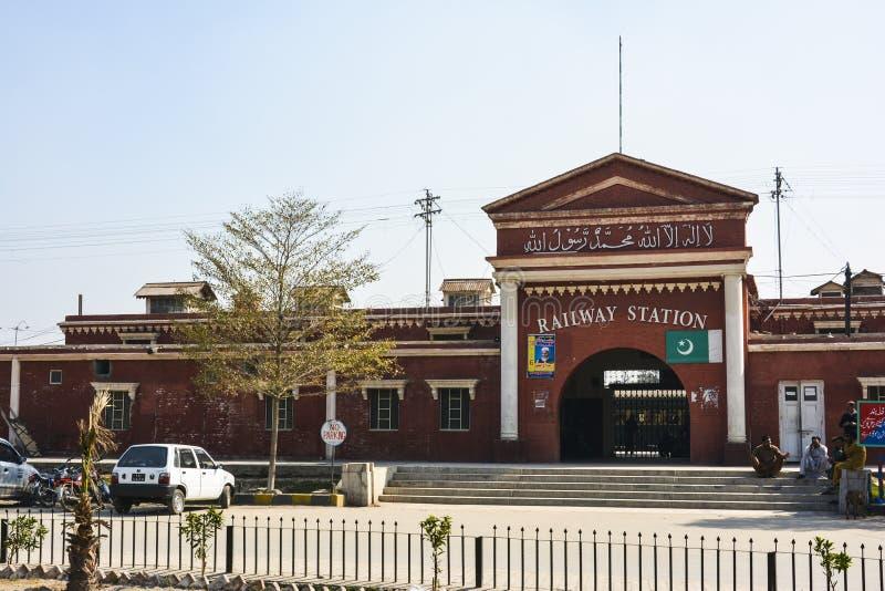 Railway Station Faisalabad. Railway station building Faisalabad, Pakistan stock photos