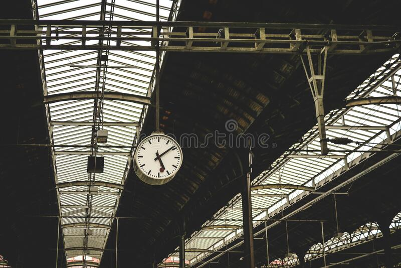 Railway station roof stock images