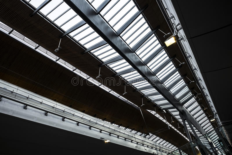 Railway station roof royalty free stock photos
