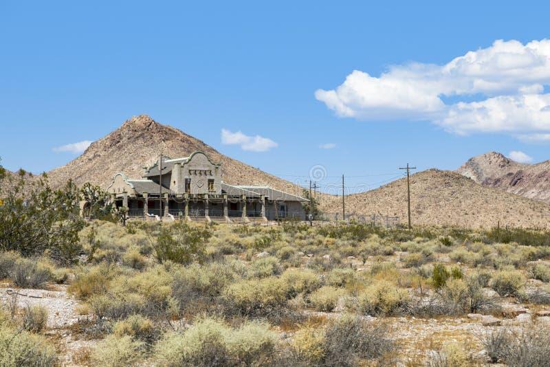 Railway station ruins at Rhyolite royalty free stock photos