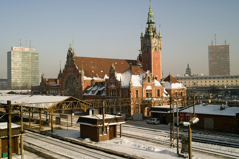 Download Railway station and train. editorial stock photo. Image of power - 28966273