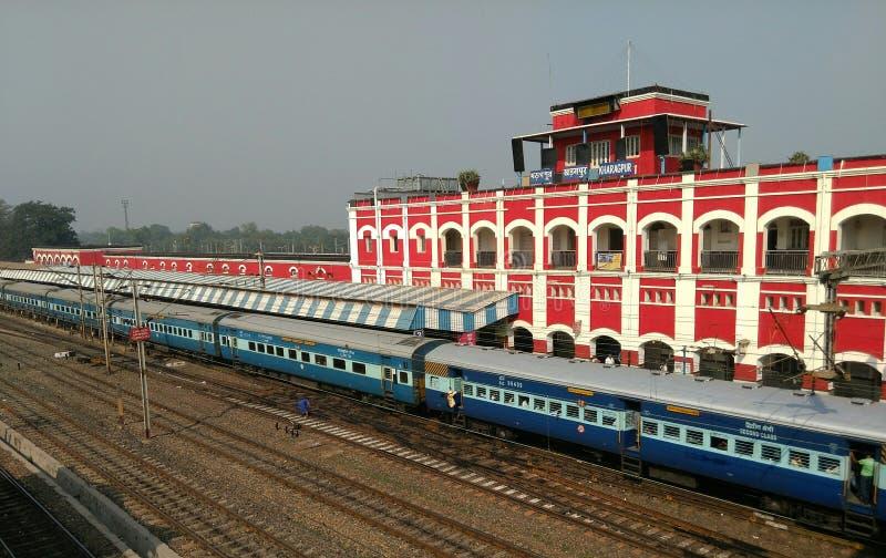 Railway Station. A train at Kharagpur Railway Station, India stock photography