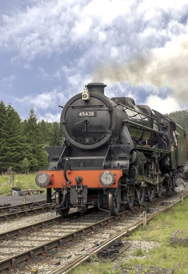 Steam train in Lewisham, England stock photos