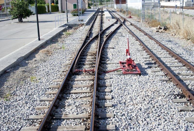 Railway switch, raw stock photo