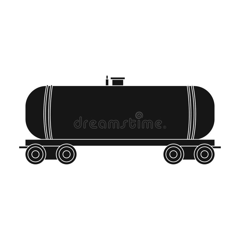 Railway tank car.Oil single icon in black style vector symbol stock illustration web. stock illustration