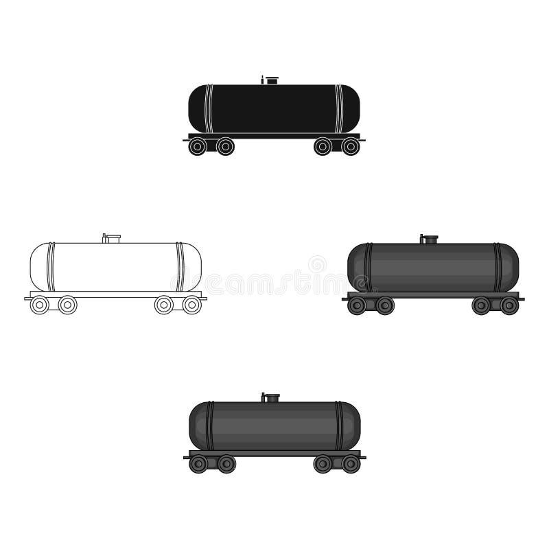Railway tank car.Oil single icon in cartoon style vector symbol stock illustration web. vector illustration