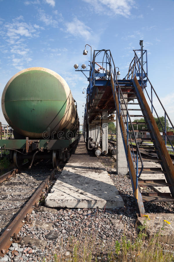 Download Railway Tank With Fuel Oil. Stock Image - Image of party, factory: 26045899