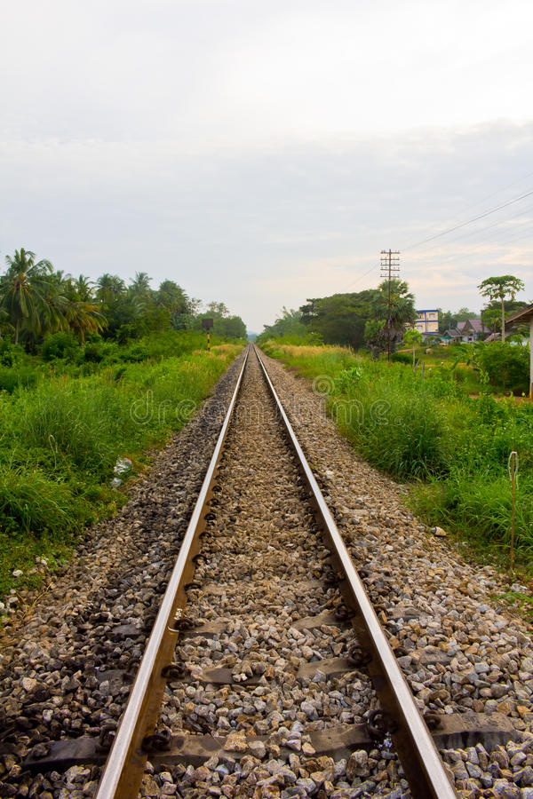 Download Railway in Thailand stock photo. Image of railway, sunset - 39507506