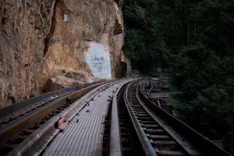 Railway to the jungle stock photography