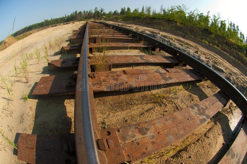 Railway to mining royalty free stock photo