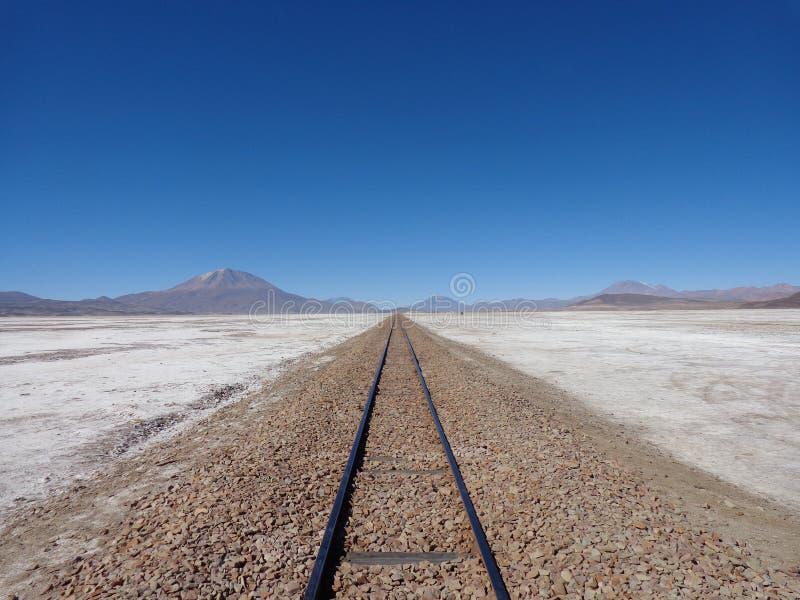 Railway to nowhere stock photography
