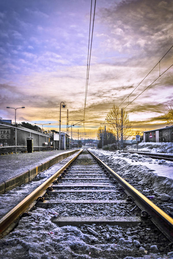Download Railway To Somewhere Royalty Free Stock Images - Image: 32086809