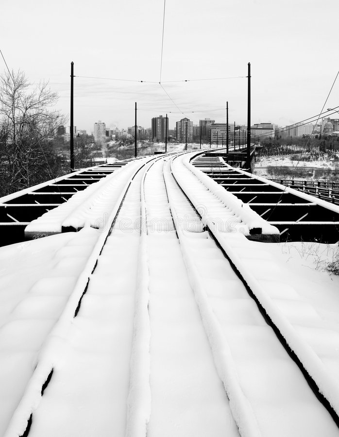 Free Railway To The City Stock Photography - 7545942