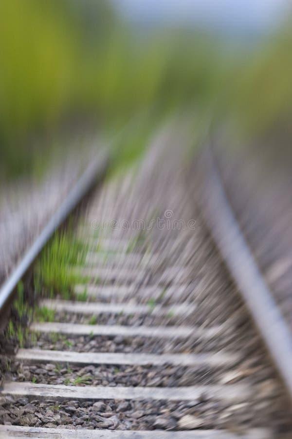 Railway track stock photo