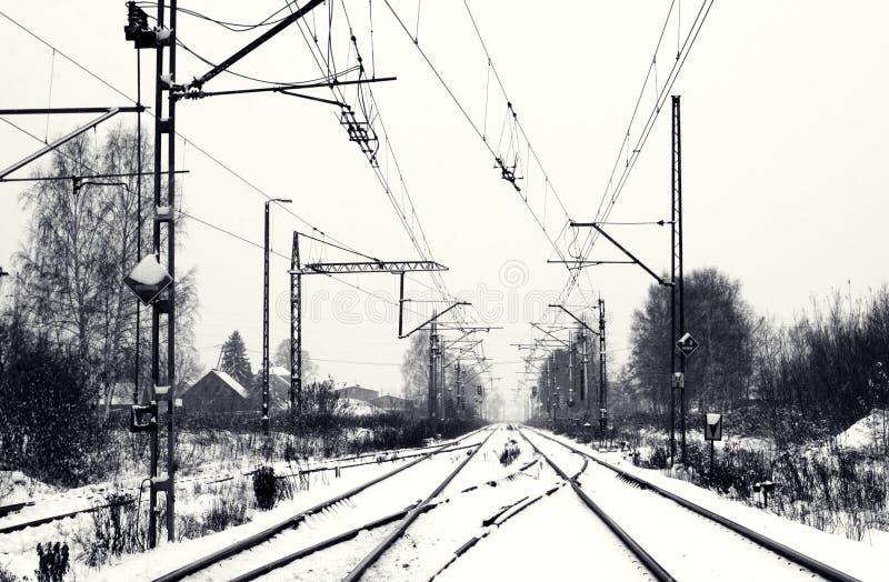 Train In Snow Stock Image Image Of Railroad Rails