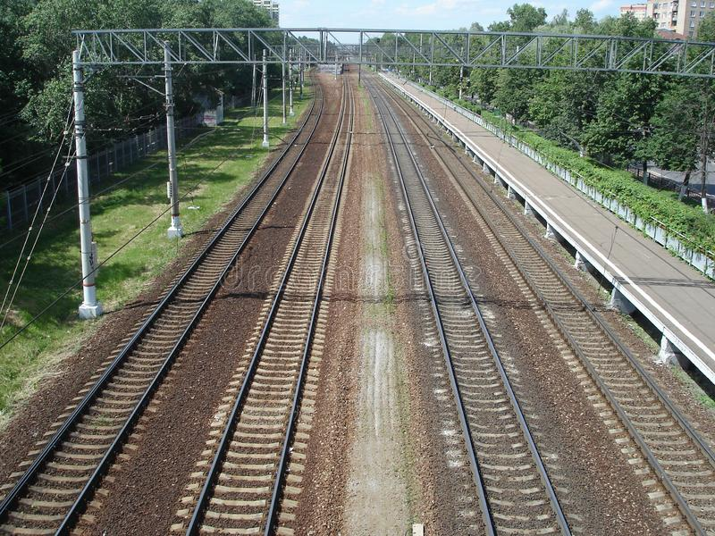 Railway Track Background - Road With Rails And Sleepers For