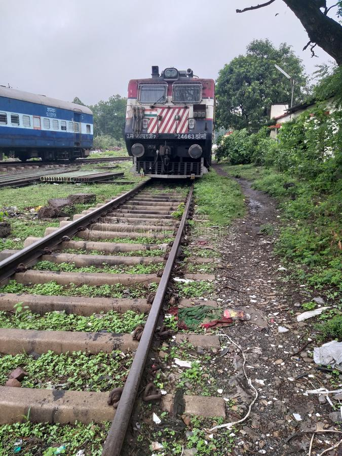 railway track and engine stock images
