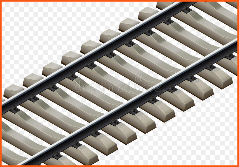 Railway track isometric vector 3d royalty free illustration