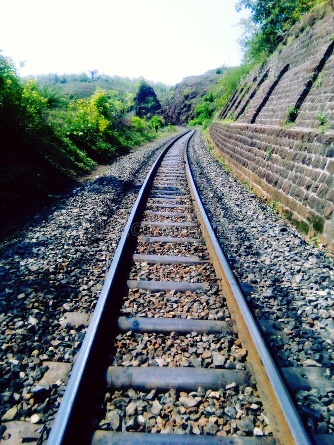The Railway Track stock photo