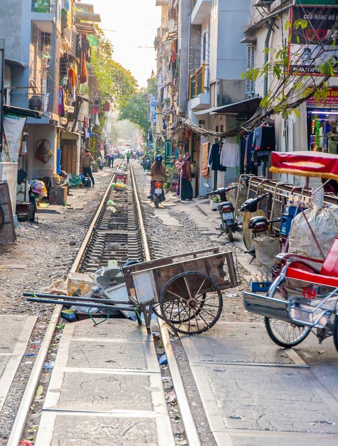 Railway track in Vietnam stock photography