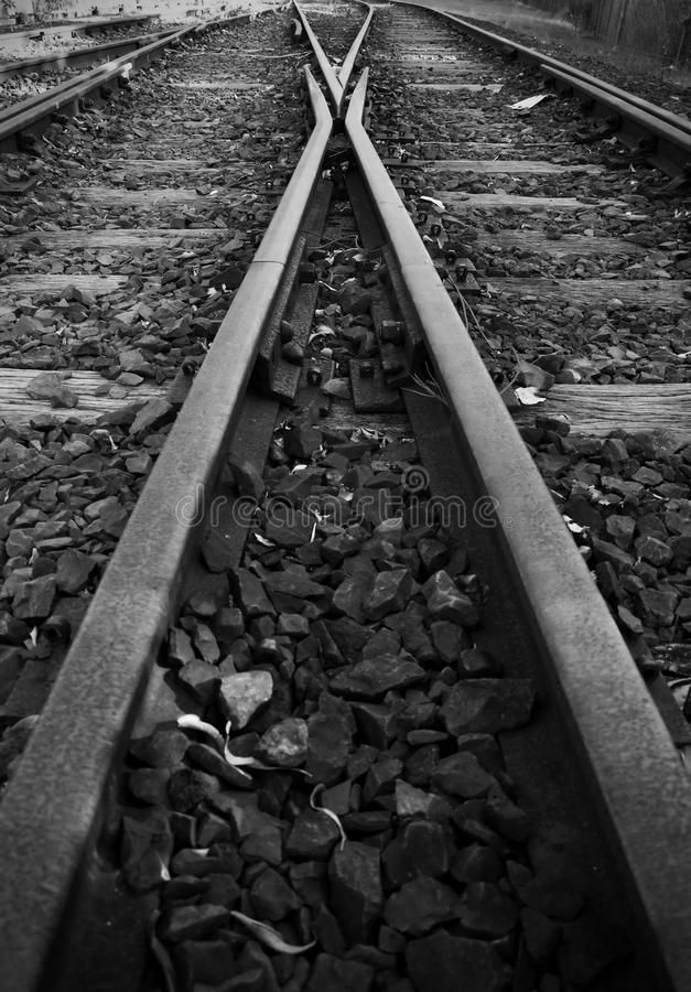 Railway Tracks and Points, Australia stock images