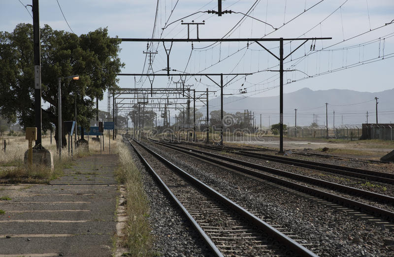Railway tracks South Africa royalty free stock photos