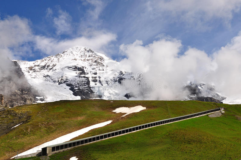 Download Railway Tunnel Under Jungfrau Peak, Switzerland Stock Photo - Image of high, height: 20741258