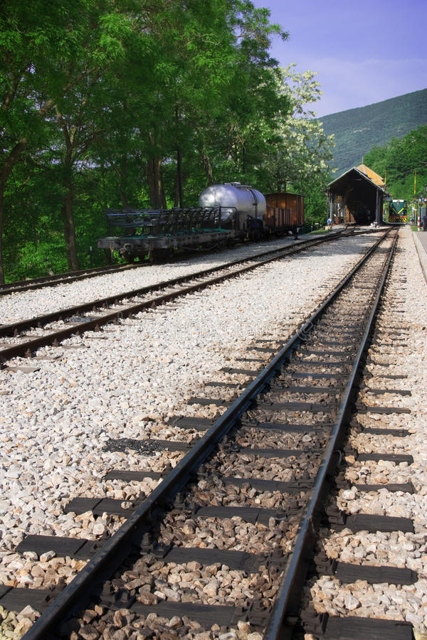 Download Railway, Wagon And Locomotive In Station Stock Image - Image: 15521971