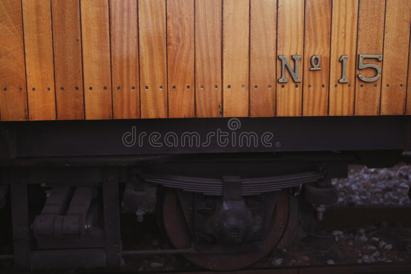 Railway wagon number 15 royalty free stock photos