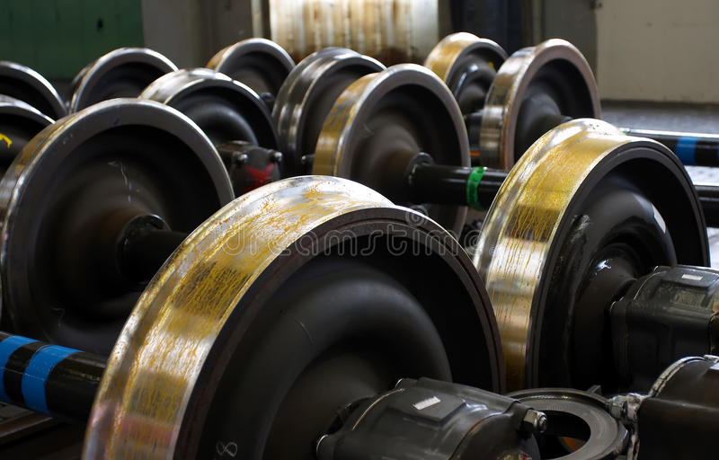 Railway wheels royalty free stock photography