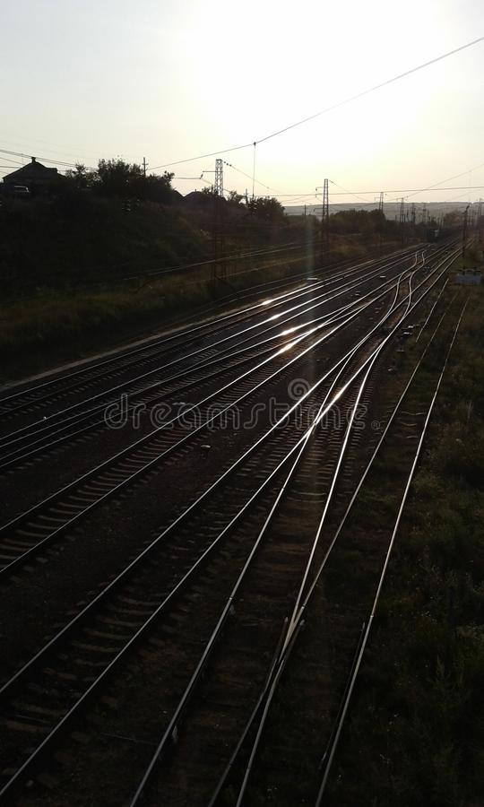 Railways. View from Bridge stock image