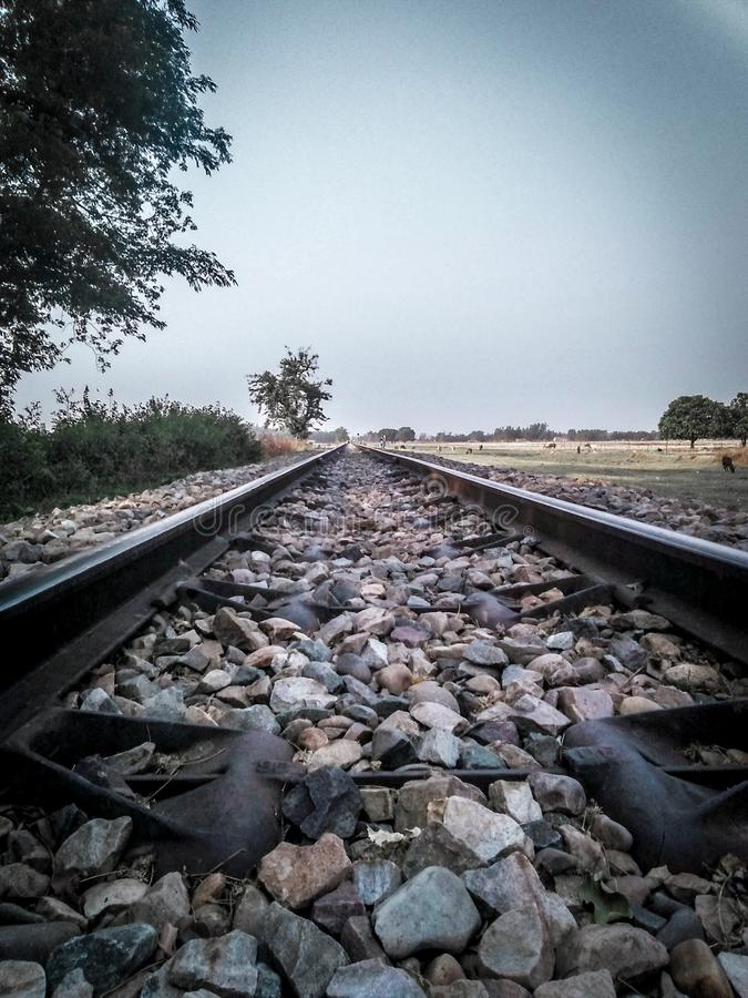 Railwaytrack royalty-vrije stock foto's