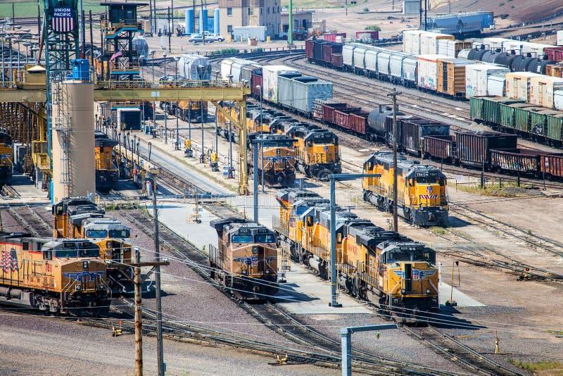 Railyard stock afbeelding