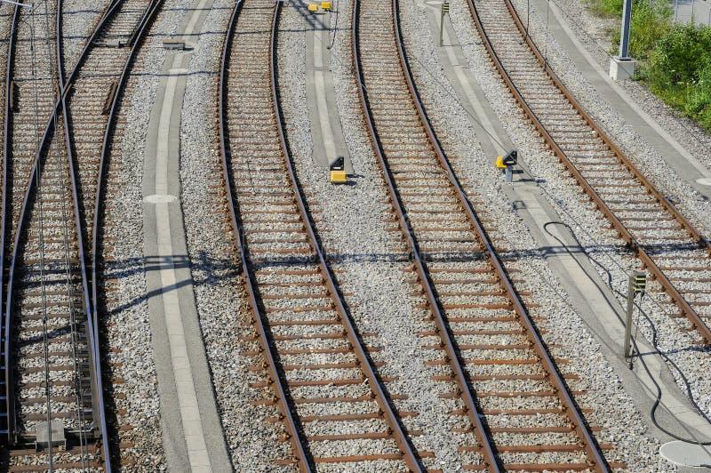 Railyard a Ginevra fotografia stock