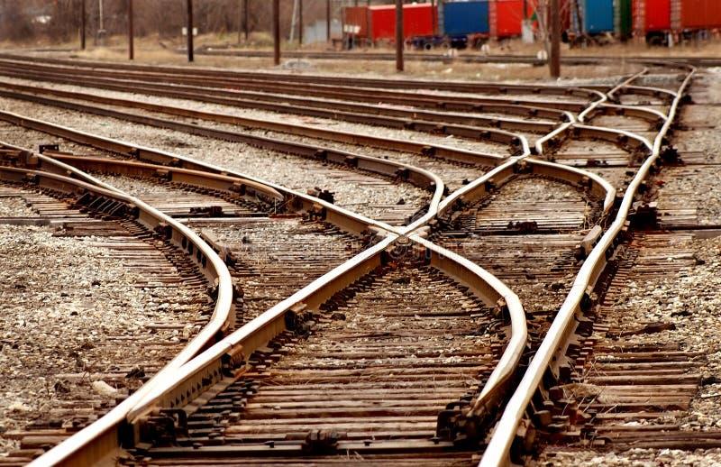 Railyard Schalterserie stockfoto
