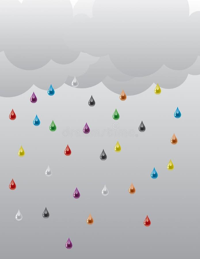 Rain_01 ilustração stock
