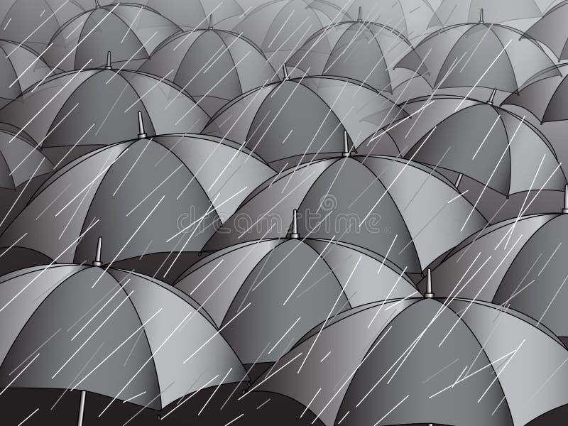 Rain royalty free illustration