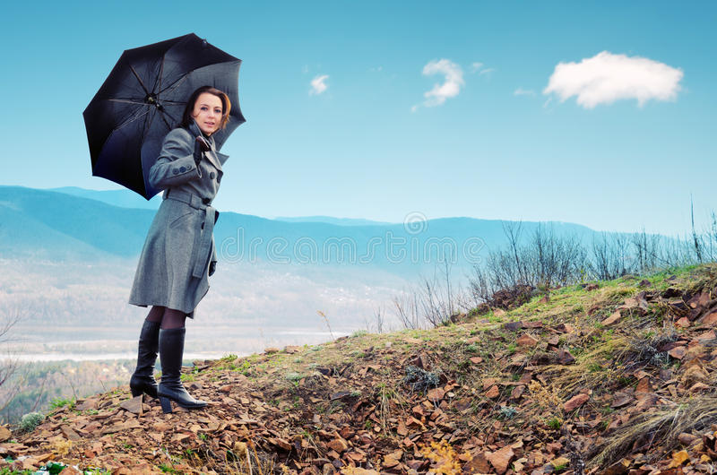 Download Rain stock image. Image of parasol, beautiful, holding - 19472731