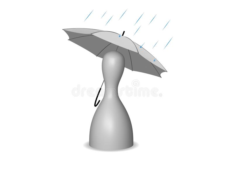Rain. The rain has its charm too royalty free illustration