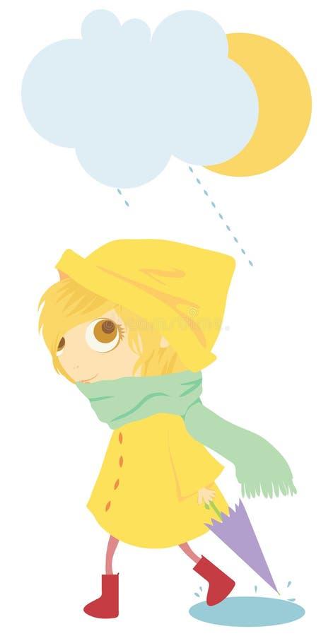 Download Rain stock illustration. Illustration of smile, cold - 27407855