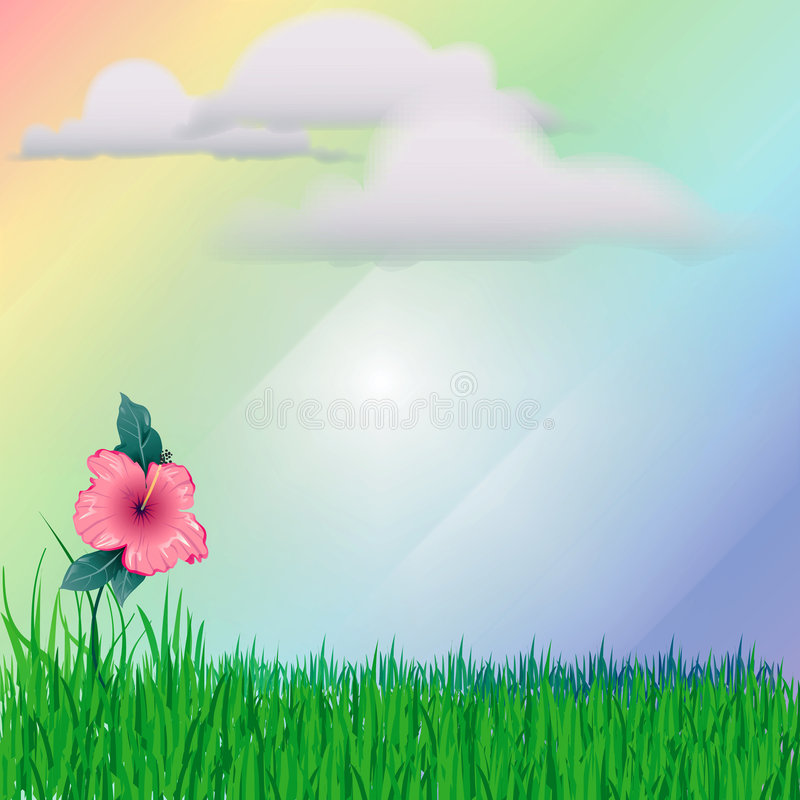 After the Rain vector illustration