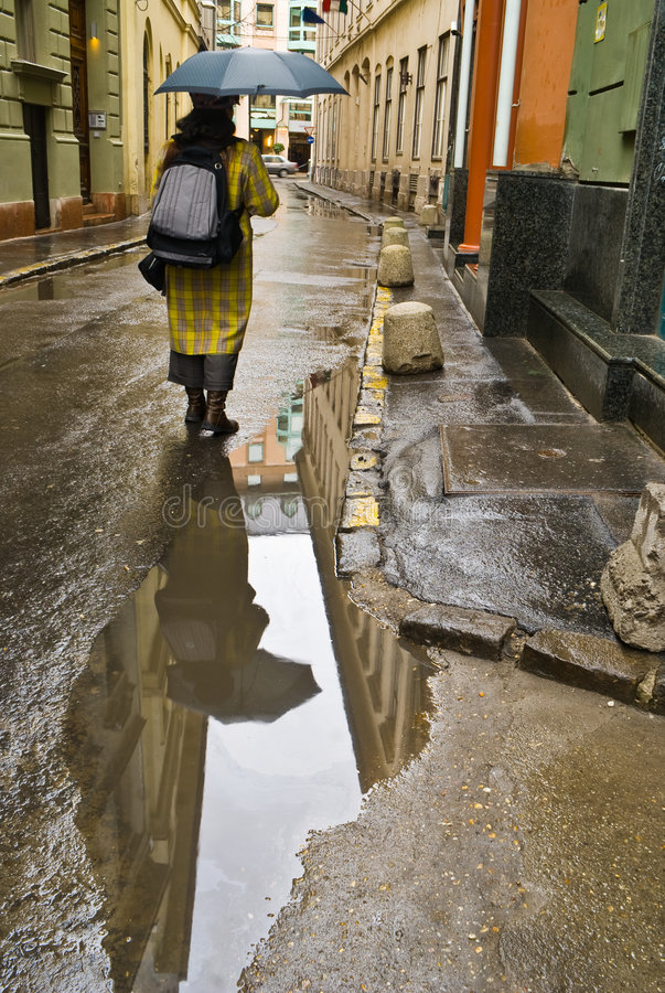 Download After the rain stock photo. Image of adult, sidewalk, eastern - 7503610