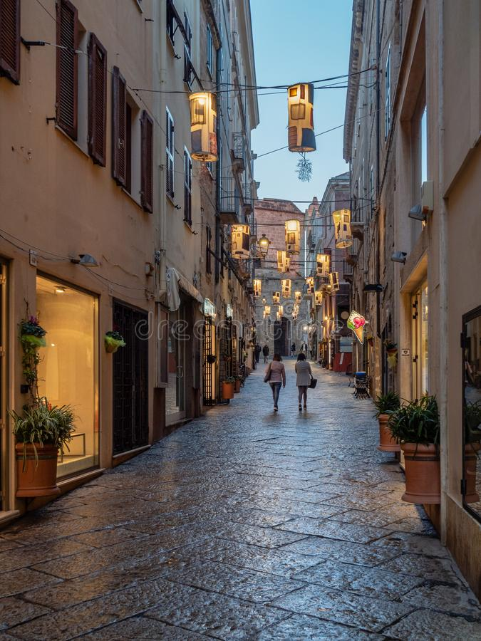 After the rain in Alghero, the island of Sardinia stock photos