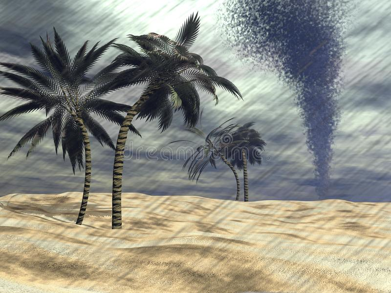 Download Rain At The Beach - 3D Render Royalty Free Stock Image - Image: 36703436
