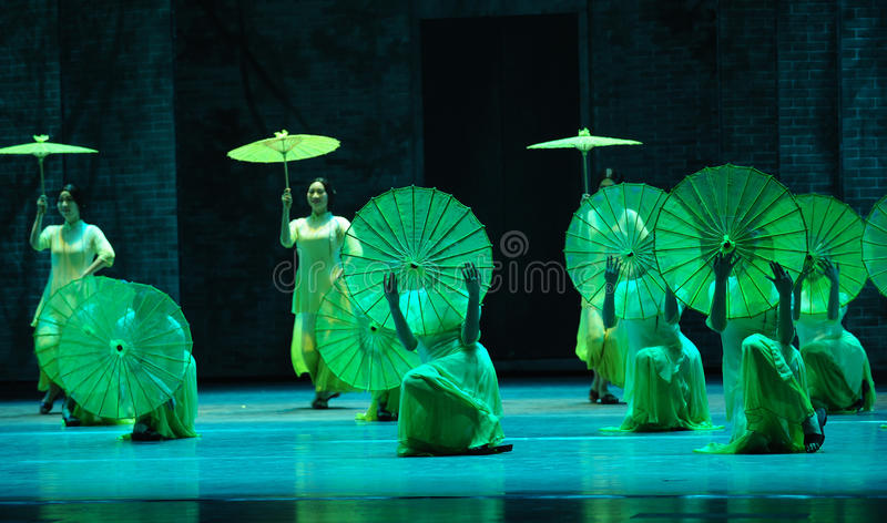 The rain beat on the banana leaf-The second act of dance drama-Shawan events of the past. Guangdong Shawan Town is the hometown of ballet music, the past focuses royalty free stock photo