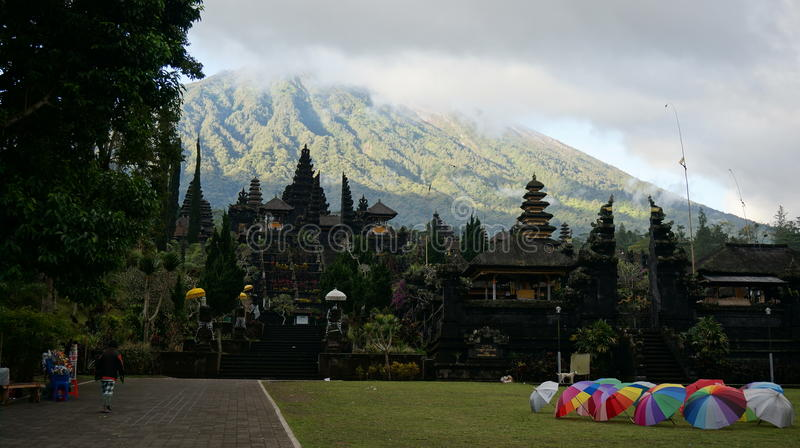 After the rain in Besakih Temple (Mother temple in Bali) royalty free stock photography