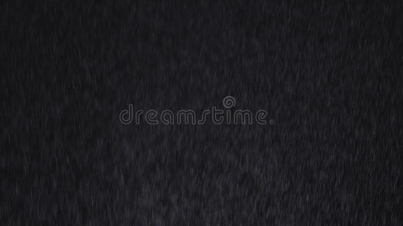 Rain on black background stock photos